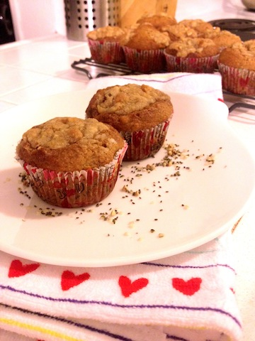 omega-3 banana nut muffins